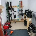 Pomieszczenie do przechowywania nart i rowerów
